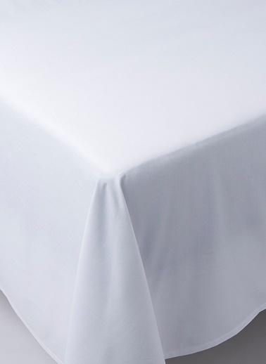 Chakra Classıc Unı Düz Çarşaf Que Beyaz